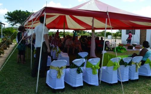 Pyntet telt